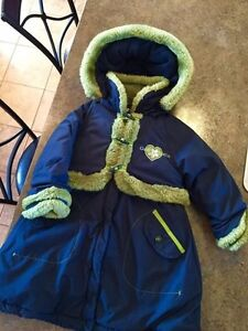Little girls size 3-5 Gusti long winter coat