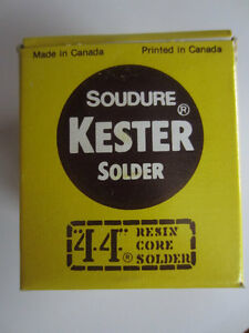 Kester Solder -- 44 Resin Core Sn63