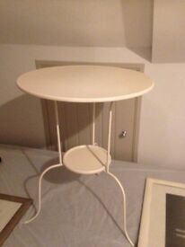 Cream side table.