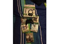 Xbox One Controller + Games + Headset