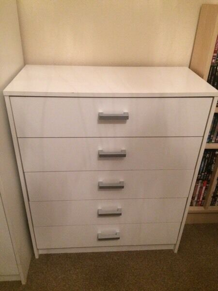 White furniture £80ono, offers for separate items considered