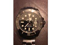 Rolex sub pro hunter pvd black coated