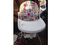 High chair £5- Royston