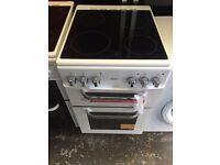 New Graded Bush 50cm Ceramic Electric Cooker 2 Door - White