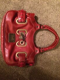 D & G red leather bag