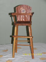 antique dolls chair
