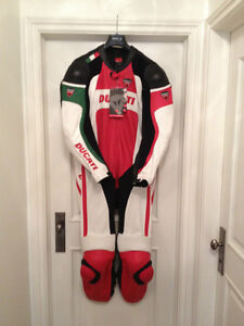 NEW-Dianese Ducati 1 pc Leather Vented Suit last 1 Removable Lr.