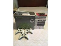 Xbox 360 Elite with 21 Games & 3 Controllers