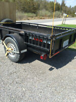 3500lb axle heavy duty trailer with built in ramp custom made !