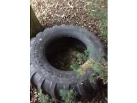 Large tractor tyre