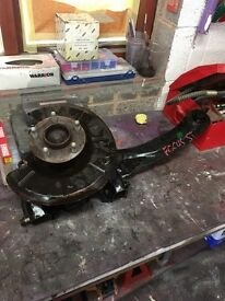 Ford Focus ST complete rear hub with trailing arm and ABS sensor
