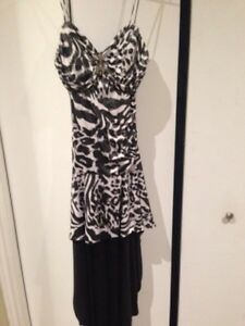 Women's high/ Lo dress- zebra print
