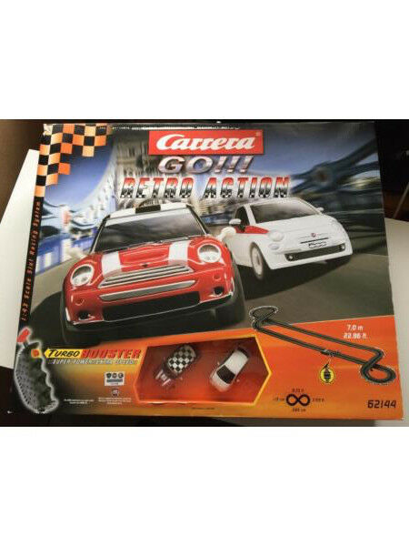 Carrera GO!!! Retro Action Mini Cooper + Fiat 500 Set