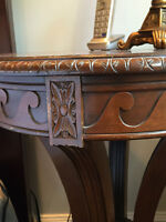 Pair of solid wood side tables