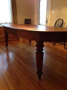 Beautiful Huge 1870s Antique Solid Walnut Dining Table Peterborough Peterborough Area image 4