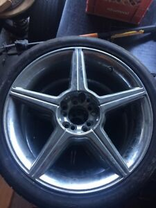 4 set of Chrome  rims with tires