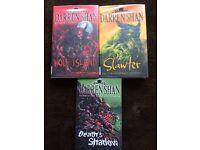 Trio of Darren Shan books.