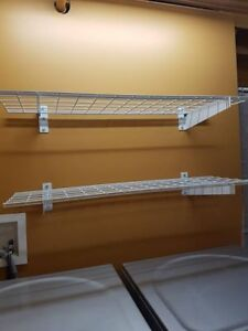 4 heavy duty wire shelves $50 each OBO