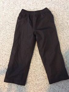 Girls Black Snow Pants-Size 5