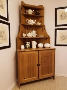 Ikea Pine Wood Corner Kitchen Cabinet for Sale!