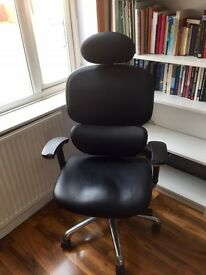 Ergo Dynamics Black Bonded Leather Executive office Chair