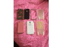 Leather and Silver Case For Apple iPhone 5/5s, 4/4s and Samsung Galaxy S4 & Screen Protector