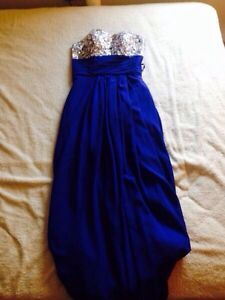 Royal blue prom dress with shoes!