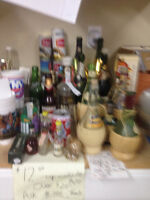 over 100 pieces of vintage booze tins/ bottles from 1960 onward
