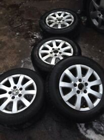 Vw Golf Mk 5 Alloys with Tyres Audi Seat 15""
