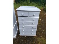 Chest of draws draw unit storage unit bedroom furniture solid pine