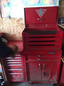 Mastercraft tool box with international side cabinet