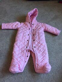 Ralph Lauren pink snow suit 9-12months