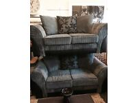 2x2 grey and black sofas £275 can be delivered