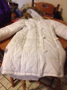 White long girl jacket with hood for sale London Ontario image 1