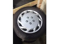 Golf steel wheels with four brand new tyres 195/65/ 15 inch