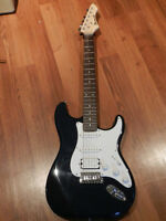 Navy Blue Barracuda Guitar with Kustom Amp