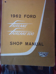 1962 FORD FAIRLANE 500 Factory Shop Manual.