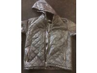 Real leather men's jacket - large