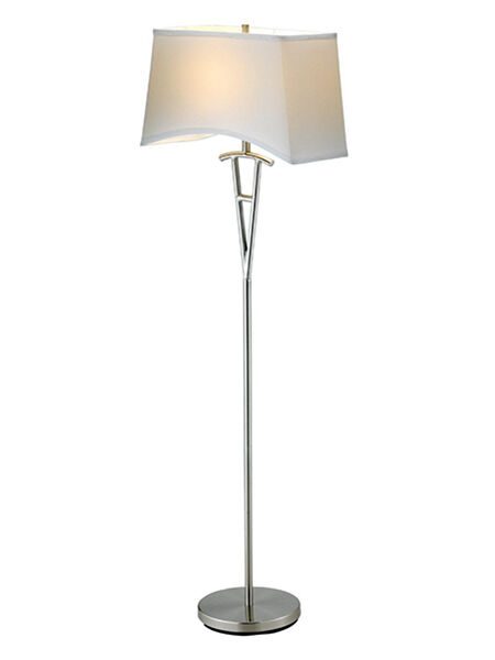 this is another great option from adesso this lamp has a satin steel finish that looks great in a modern decor the base is 62 inches tall and the shade