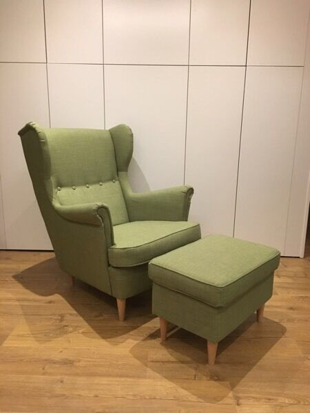 Ikea Strandmon Wing Chair u0026 Footstool *AS ... & Ikea Strandmon Wing Chair u0026 Footstool *AS NEW* | in Merchiston ...