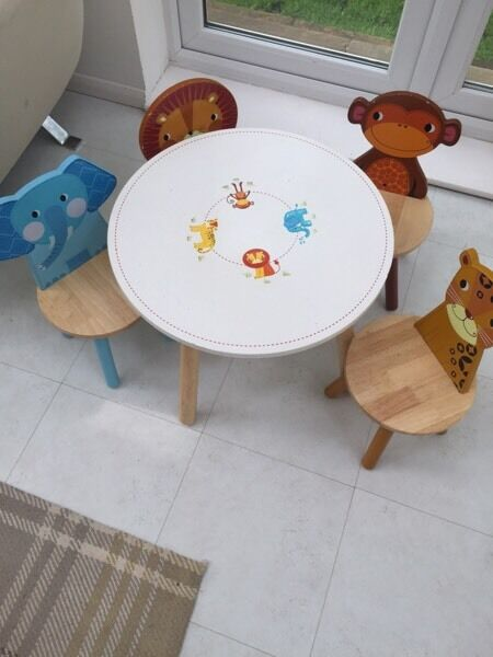 Tidlo Jungle Animals Table And 4 Chairs Set RRP£154
