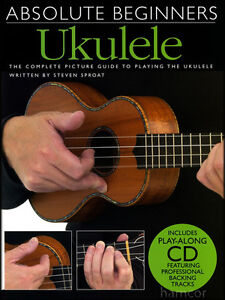 Absolute Beginners Ukulele Learn to Play Tutor Method Teach Yourself Music Book