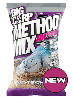 BAIT TECH Big carp method mix 2KG GROUNDBAIT ADF Fishmeal