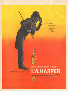 1948 full-page (10 1/2 x 14) magazine ad for I.W. Harper Bourbon