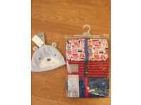 BRAND NEW Mothercare baby boy handle and hat