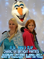 Frozen Elsa Anna Olaf Live Birthday Parties Party Entertainment
