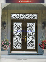 Wrought Iron Entry Door Glass Sale