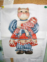 Bootsey the country cat doll fabric/sewing