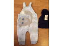 BRAND NEW WITHIN TAG Bext baby boy's romper *MOTHERCARE hat