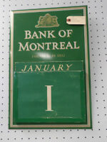 Old Bank Perpetual Calendar - BLUE JAR Antique Mall